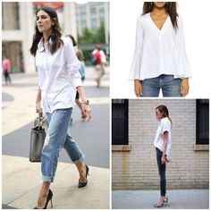 A white shirt goes with anything.