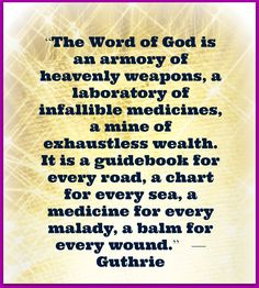 Christian Images In My Treasure Box: A Word Of God - Quote