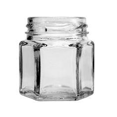 1.5 oz Hexagon Sample Jars 43 Lug - great honey jar for sample sizes or for shower favors and gift baskets!
