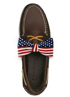 American Style | Sperry | Shoes  | Flag | Red, White & Blue | Bow