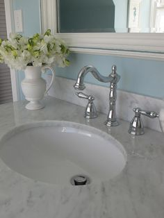 GEORGICA POND INTERIORS, our home, kids bathroom, aqua, marble, subway tiles,