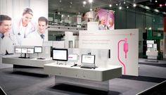 Deutsche Telekom stand at Medica 2011 by hartmannvonsiebenthal, Düsseldorf exhibit design