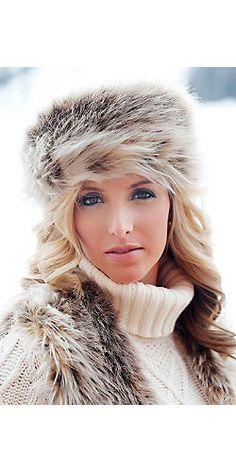 72623d1fcb2 Russian Lynx Faux Fur Russian Hat