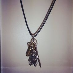 Mixed Metal Charm Necklace by NickelsNotions on Etsy