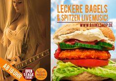 Get on Stage and sing :-) Heute gibts wieder #LiveMusic im #bagelshop ab 18 Uhr. www.bagelshop.de