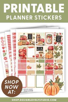 Weekly Planner Printable, Printable Planner Stickers, Printables, Apple Stickers, Planner Decorating, Planner Layout, Erin Condren Life Planner, Happy Planner, Planners