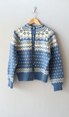 Bahnhofstrasse cardigan / vintage wool 50s ski by DearGolden, $84.00