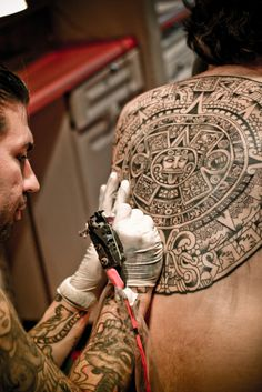Too bad the owner will never get to see the detail.  Aztec Calendar by timothycyrus
