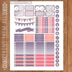 Bird Printable Planner Stickers OWL Stickers by PrintThemAllStudio
