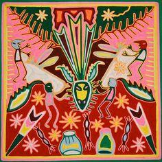 Wixáritari (Huichol) yarn painting