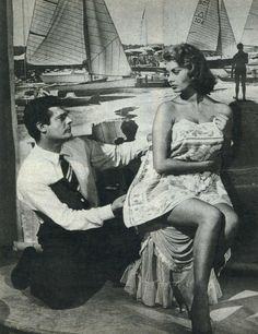 "Marcello Mastroianni and Sophia Loren in ""The Luck of womanhood"", 1956"