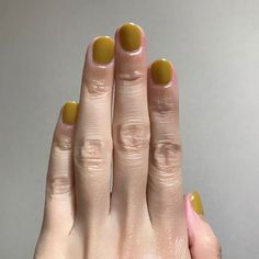 mustard yellow nails