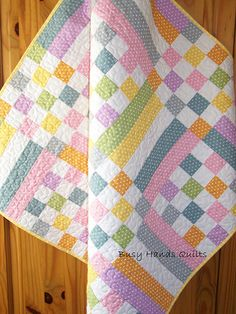 Old Fashioned Pastel Patchwork Quilt