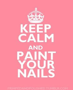 It's true!  Take ten minutes to give yourself a manicure and feel more relaxed (and beautiful) for the rest of the day!