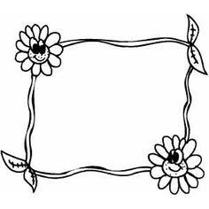 Smiling Flowers Frame