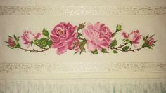 Cross Stitch Flowers, Needlepoint, Cross Stitch Rose, Cross Stitch Embroidery, Towels, Herb, Log Projects, Craft, Roses