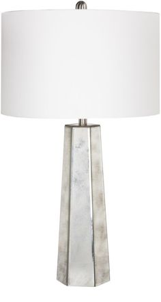 Surya PRLP Perry 1 Light Table Lamp Silver Lamps Table Lamps Accent Lamps