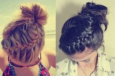 Updos For Medium Hair - Swirling French Braid With High Bun