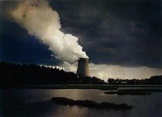 Trojan Nuclear Power Plant, Columbia River, Oregon (Type C print) from Power Places series, by John Pfahl, 1982