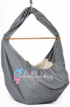 Babyvak Hacka PLUS Závěsná textilní kolébka šedá - 0