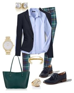 "Outfit Ideas for Women 35+, ""Feelin' Preppy"" by fattyfox on Polyvore featuring H&M, Lands' End, Old Navy, BC Footwear, GiGi New York, Kate Spade, modcloth and KateSpadeNewYork"