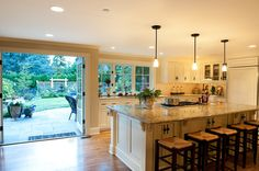Now this is literally an open kitchen.  Traditional Kitchen - traditional - kitchen - other metro - Paul Moon Design