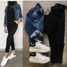 Boss Lady Outfit Idea For You:- Wanderlust Fashion . Mode Outfits, Trendy Outfits, Winter Fashion Outfits, Fall Outfits, Fashion Ideas, Mode Hijab, Teenager Outfits, Outfit Combinations, Korean Fashion