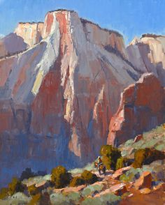 Zion Shadows by Jim Wodark Oil ~ 20 x 16