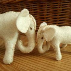 Mother and baby elephant wool felt elephants wool stuffed animal toy for boys gift for boys toy for girls gift for women eco toys natural Toys For Girls, Gifts For Girls, Girl Gifts, Gifts For Women, Mother And Baby Elephant, Felt Patterns, Montessori Toys, Felt Animals, Pet Toys