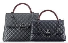 Chanel Lizard Handle Flap Satchels $4,200 and $3,800 via Chanel