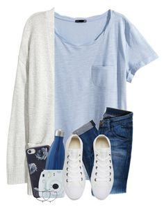 """""""OOTD : I have soooo much homework . . . ."""" by meinersk45195 ❤ liked on Polyvore featuring H&M, Kofta, Kate Spade, Hudson Jeans, Fuji, Converse and Pura Vida"""