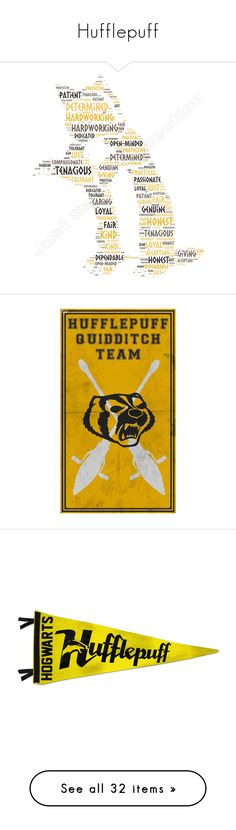"""Hufflepuff"" by argboo on Polyvore featuring harry potter, hogwarts, hufflepuff, backgrounds, pictures, text, phrase, quotes, saying and fillers"