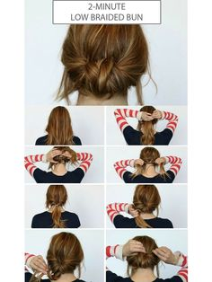 Chic Chignon hairstyle is perfect for you, if you want to special hairdo for a party or occasion. Chignon hairstyle gives a unique look to your hair. Summer Hair Buns, Easy Hair Buns, Braids Easy, Dutch Braids, Buns For Short Hair, Simple Braids, Diy Short Hair, How To Bun Hair, Hair In A Bun