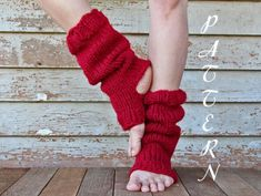 Tall & Slouchy Knitted Yoga Sock PDF Pattern - Pedicure Socks - Chunky Dance Socks - Pilates Socks - Toeless Sock - Instant Download