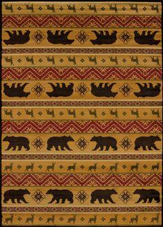 United Weavers of America Affinity Nordic Bear Spice Area Rug, Beige & Tan