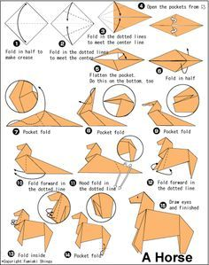 easy origami horse - Google Search