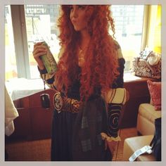 Hipster Merida. Bought woodcarvings before it was cool. #merida #hipster #cosplay facebook.com/ADHcosplay