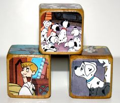 101 Dalmatians  Children's Wooden Book Blocks by Booksonblocks, $11.00