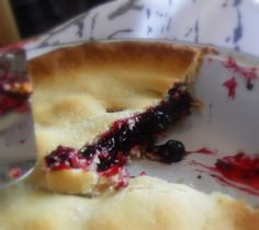 Blackcurrants:The English Kitchen: Deep Dish Black Currant Pie I do a similar one with a lattice top and some lemon juice in the filling.   Another recipe adds mint leaves.  Very juicy so use a pie dish that won't leak.