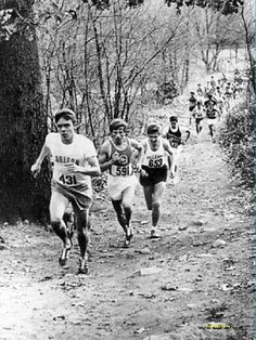 Steve Prefontaine leading a cross country race 1969.
