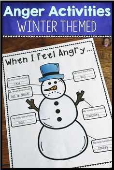 These winter themed anger management activities for kids will help your elementary students recognize their anger, identify anger triggers, and develo Anger Management Activities For Kids, Coping Skills Activities, Teaching Skills, Counseling Activities, Mindfulness Activities, School Counseling, Group Counseling, Therapy Activities, Therapy Ideas
