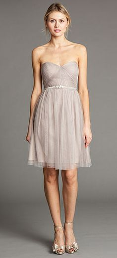 I like this simple dress for bridesmaids...Jenny Yoo Bridesmaid Dresses tulle