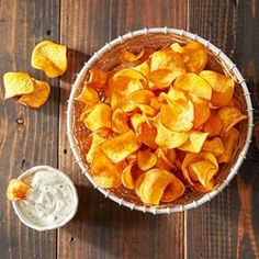 Baked Homemade Sweet Potato Chips - Allrecipes.com