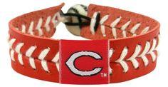 Cincinnati Reds Baseball Bracelet - Team Color Style