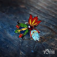Flower ring by Petra Toth Jewellery. Petra, Brooch, Embroidery, Creative, How To Make, Accessories, Folklore, Jewelry, Relax
