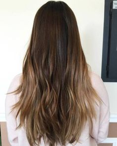 brunette balayage for long layered hair