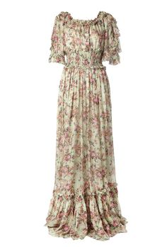 floral maxi dress.  This would look awesome with a shrug