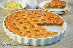 Rácsos almás pite Hungarian Recipes, Sweet Cakes, Winter Food, No Bake Cake, Apple Pie, Sweet Tooth, Bakery, Sweet Treats, Food And Drink