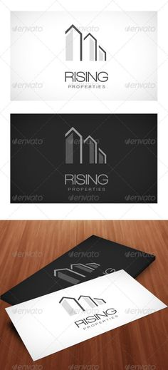 Rising Properties - Logo Template by peerforest This a beautiful logo template full of colors simple for construction / properties / creative companies, file format is psd. Its