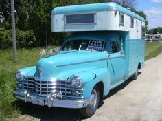 A lot of these weird old car camper conversions look really cool.